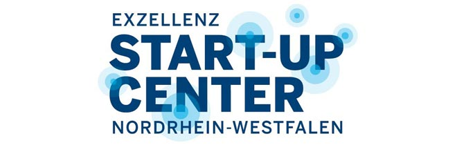 Blaues Logo Exzellenz Start-up Center NRW